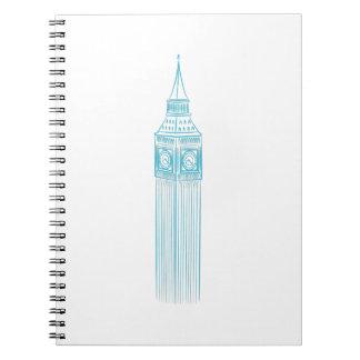 Big Ben Clock Tower Landmark Spiral Notebook