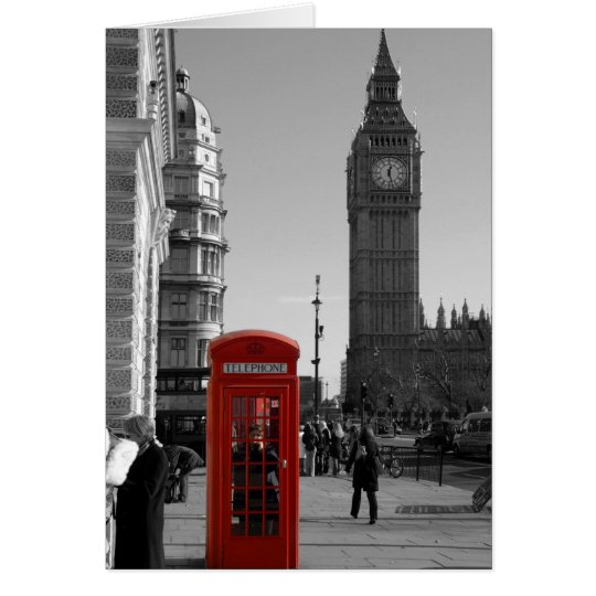 Big Ben Clock Tower London Card