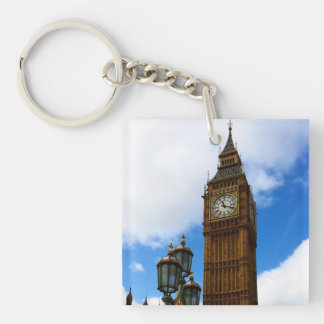 Big Ben Customisable Double-Sided Square Acrylic Key Ring
