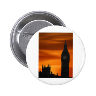 Big Ben (Digital Art) by David Alexander Elder 6 Cm Round Badge