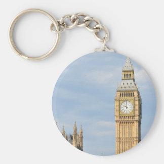 Big Ben in London Basic Round Button Key Ring