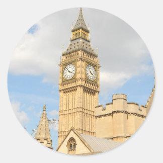 Big Ben in London Classic Round Sticker