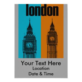 Big Ben in London, Ver. 2 13 Cm X 18 Cm Invitation Card