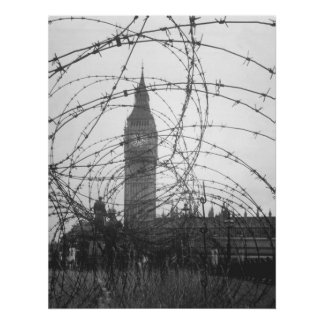 Big Ben in WWII Poster