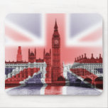 Big Ben London and Union Jack flag Mouse Pad