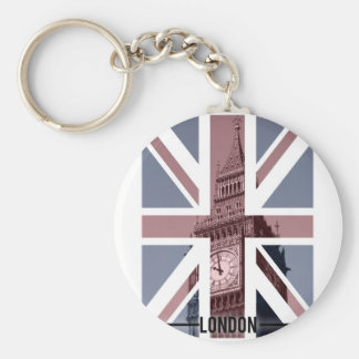 Big Ben, London Basic Round Button Key Ring