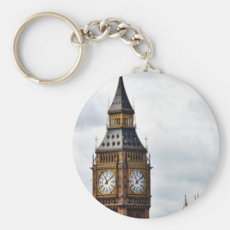 Big Ben London Clock Towers And Westminster Abbey Basic Round Button Key Ring