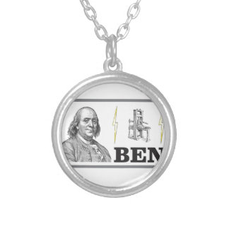 big ben silver plated necklace