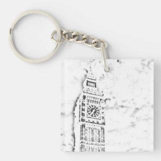 Big Ben Single-Sided Square Acrylic Key Ring