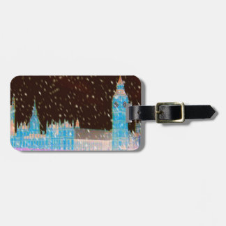 Big Ben Westminster Abbey London Red Skies Luggage Tag
