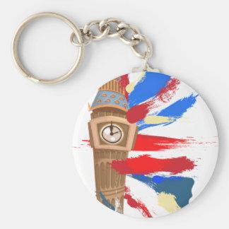 Big Ben Westminster Clock Tower Basic Round Button Key Ring