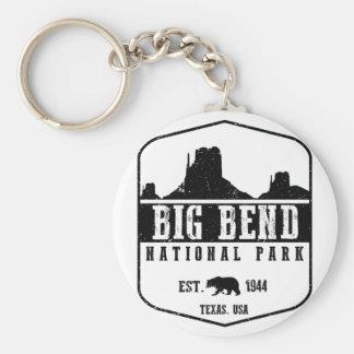 Big Bend National Park Basic Round Button Key Ring