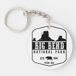 Big Bend National Park Double-Sided Round Acrylic Key Ring