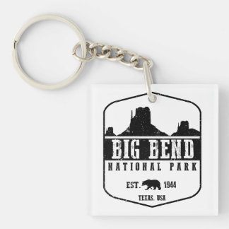 Big Bend National Park Double-Sided Square Acrylic Key Ring