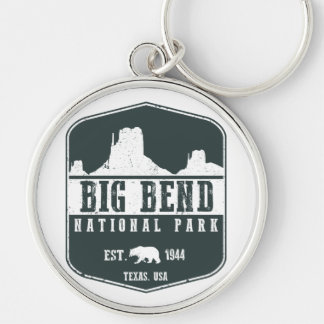 Big Bend National Park Silver-Colored Round Key Ring