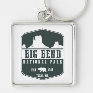 Big Bend National Park Silver-Colored Square Key Ring