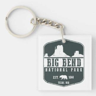 Big Bend National Park Single-Sided Square Acrylic Key Ring
