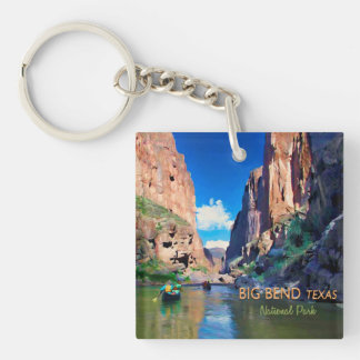 Big Bend Texas National Park Mariscal Canyon Single-Sided Square Acrylic Key Ring