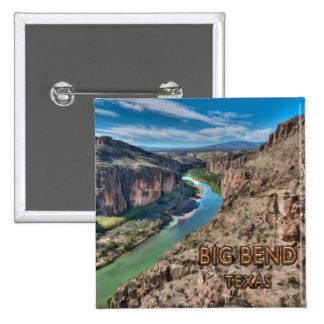 Big Bend Texas National Park Rio Grande 15 Cm Square Badge
