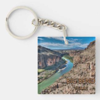 Big Bend Texas National Park Rio Grande Single-Sided Square Acrylic Key Ring