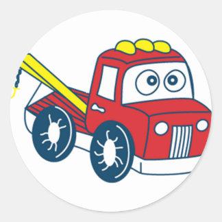 Big Bertha's Cartoon Tow Truck Classic Round Sticker