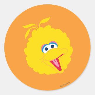 Big Bird Face Classic Round Sticker