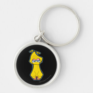 Big Bird Zombie Silver-Colored Round Key Ring
