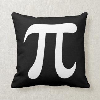 Big black and white pi symbol custom pillow throw cushion