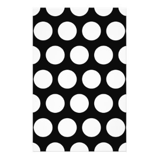 Big Black and White Polka Dots 14 Cm X 21.5 Cm Flyer