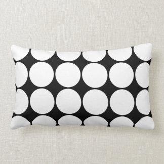 Big Black and White Polka Dots Circles Pattern Throw Cushions