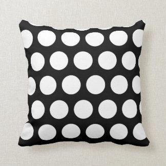 Big Black and White Polka Dots Cushion