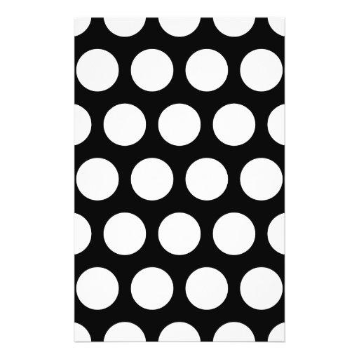 Big Black and White Polka Dots Custom Flyer