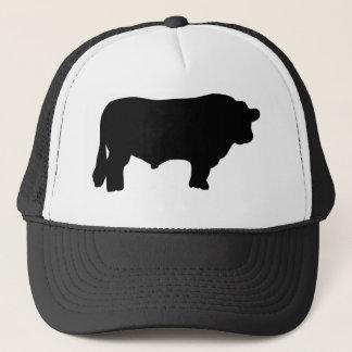 big black angus bull trucker hat