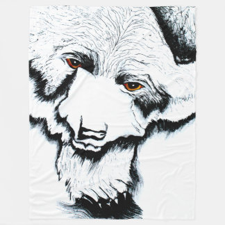Big Black Bear Warm Fleece Blanket