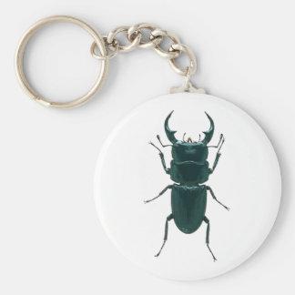 Big Black Dung Beetle Basic Round Button Key Ring