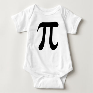 Big black pi symbol infant creeper