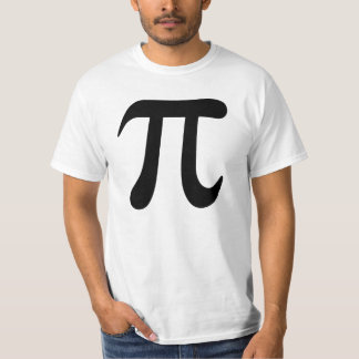 Big black pi symbol t-shirt