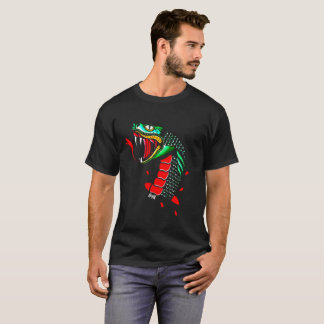 Big black traditional snake t-shirt