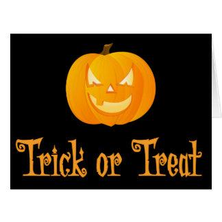 Big Black Trick Or Treat Halloween Greeting Card