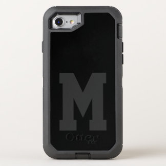 Big Black Varsity Monogram OtterBox Defender iPhone 8/7 Case