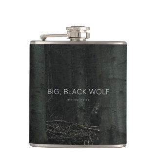 'Big, Black Wolf' Flasks