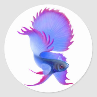 Big Blue Betta Fish Sticker