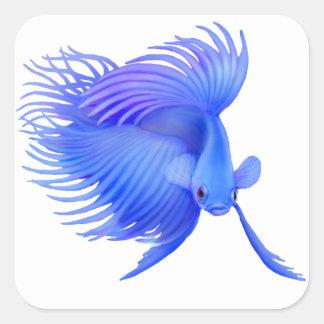 Big Blue Betta Fish Stickers