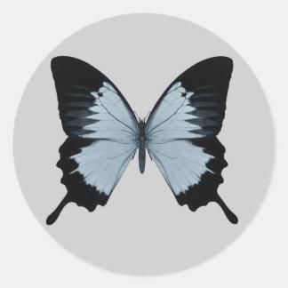 Big Blue Black Butterfly Sticker