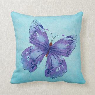 Big Blue Butterfly Pillow