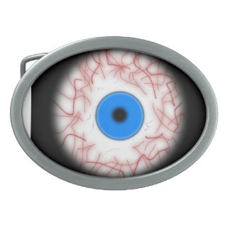 Big Blue Eyeball Belt Buckle