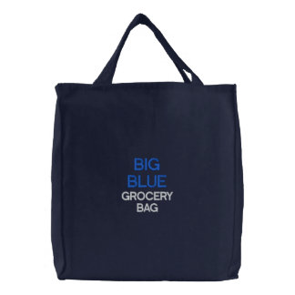 BIG BLUE GROCERY BAG, BAG