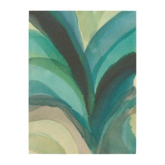Big Blue Leaf I Wood Print