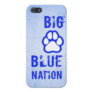 Big Blue Nation Cat Paw Sports Team iPhone Case
