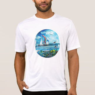 Big Blue Ocean Bubble Natures Playground T-Shirt